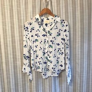 Anthropologie blueberry blouse